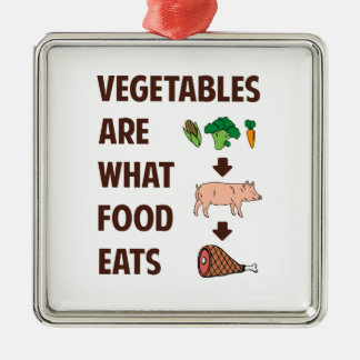 Vegetables Are What Food Eats Metal Ornament