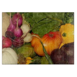 Vegetables Decorative Glass Cutting Board