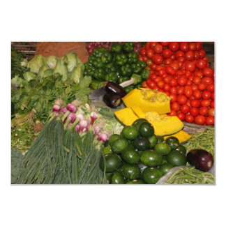 Vegetables Fresh Ripe Garden Mixed Harvest Market 9 Cm X 13 Cm Invitation Card