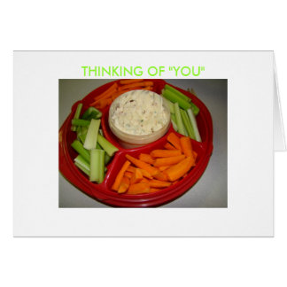 """Vegetables & Fruit, THINKING OF """"YOU"""" Card"""