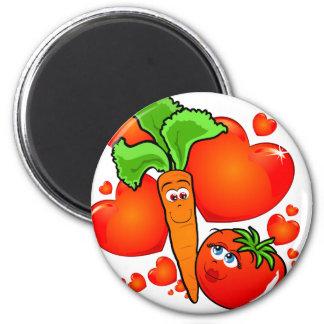 Vegetables in love, magnet