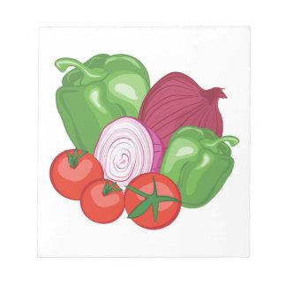 Vegetables Notepad