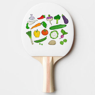 vegetables ping pong paddle