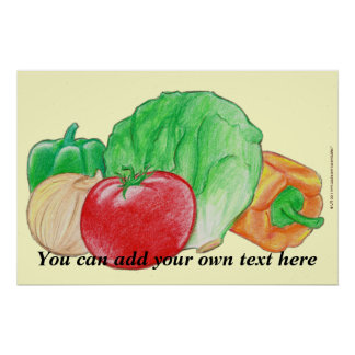 Vegetables Produce Poster Print