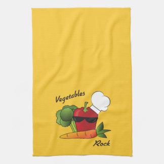Vegetables Rock Tea Towel