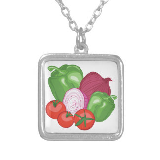 Vegetables Silver Plated Necklace