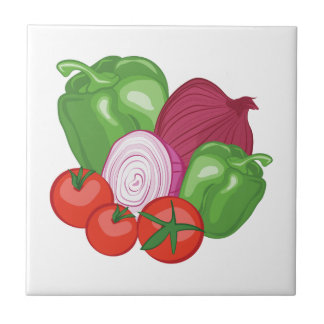 Vegetables Small Square Tile
