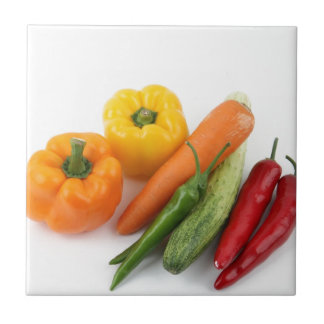 Vegetables. Small Square Tile