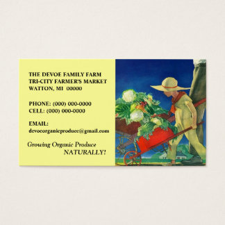 VEGETABLES VEG FAMILY FARM PRODUCE BUSINESS CARDS