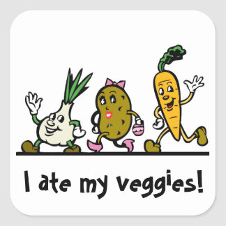Vegetables / Veggie Ate My Veggies Reward Sticker