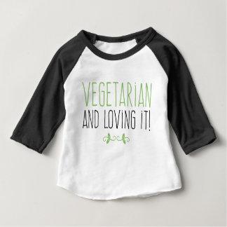Vegetarian and loving it! baby T-Shirt