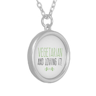 Vegetarian and loving it! silver plated necklace