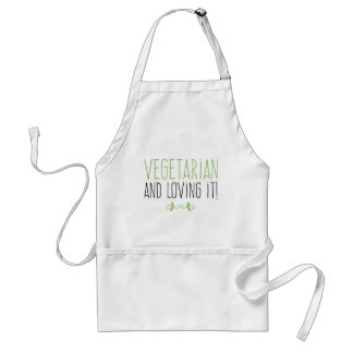 Vegetarian and loving it! standard apron
