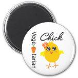 Vegetarian Chick Refrigerator Magnets