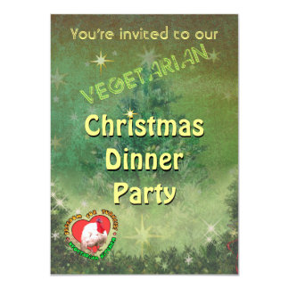 Vegetarian Christmas Dinner Invitation