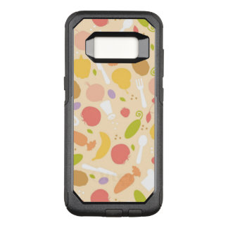 Vegetarian cooking pattern background OtterBox commuter samsung galaxy s8 case