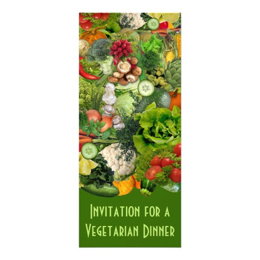 Vegetarian Dinner Personalized Announcements