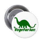 Vegetarian Dinosaur Pinback Buttons