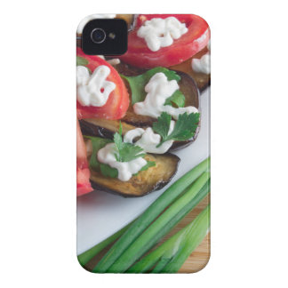 Vegetarian dish of stewed aubergine iPhone 4 case