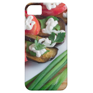 Vegetarian dish of stewed aubergine iPhone 5 cases