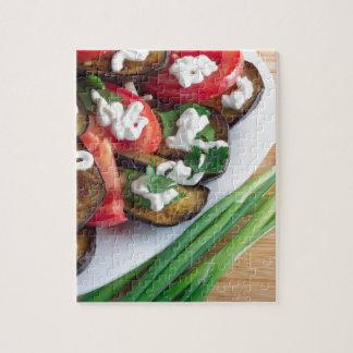 Vegetarian dish of stewed aubergine jigsaw puzzle