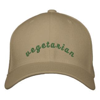 Vegetarian - Embroidery Embroidered Hat