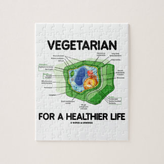 Vegetarian For A Healthier Life (Plant Cell) Jigsaw Puzzle
