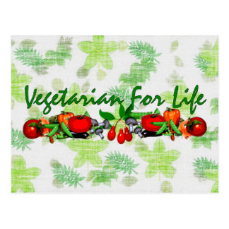 Vegetarian For Life Postcard