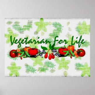 Vegetarian For Life Print