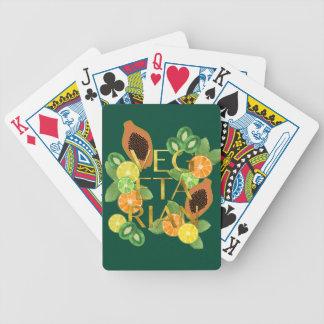 Vegetarian Fruit Bicycle Playing Cards