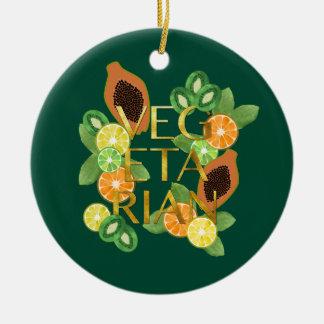 Vegetarian Fruit Ceramic Ornament