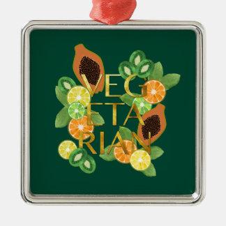 Vegetarian Fruit Metal Ornament