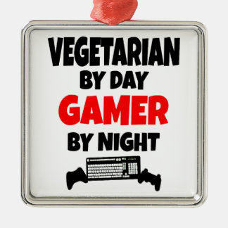 Vegetarian Gamer Metal Ornament