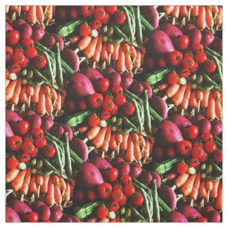 Vegetarian Garden Vegetables Picture Fabric