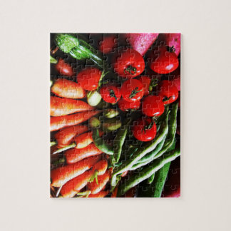 Vegetarian Garden Vegetables Picture Jigsaw Puzzle