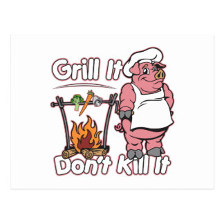 Vegetarian Grill It Don't Kill It Postcard