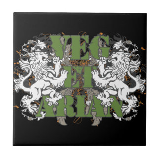 Vegetarian Lions Small Square Tile
