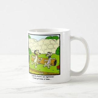 Vegetarian Masters: Dog cartoon Coffee Mug