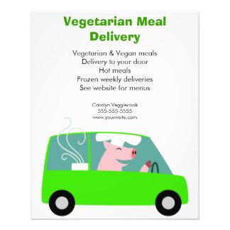 Vegetarian Meal Delivery Service 11.5 Cm X 14 Cm Flyer