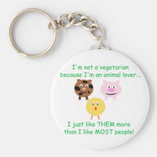 Vegetarian Not An Animal Lover Key Chain
