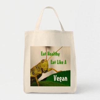 Vegetarian-Organic Grocery Tote Grocery Tote Bag