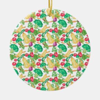 Vegetarian Pattern Ceramic Ornament