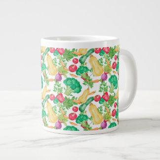 Vegetarian Pattern Large Coffee Mug