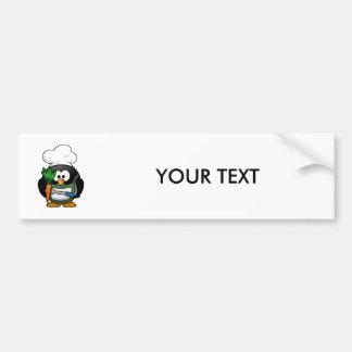 Vegetarian Penguin Chef Bumper Sticker