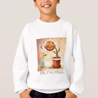 vegetarian plant funny cartoon sweatshirt