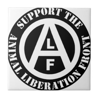 Vegetarian Vegan Support Animal Liberation Front Ceramic Tile