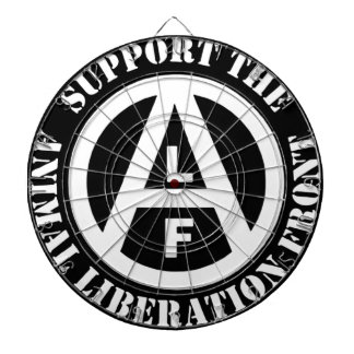 Vegetarian Vegan Support Animal Liberation Front Dartboard