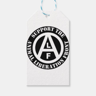 Vegetarian Vegan Support Animal Liberation Front Gift Tags
