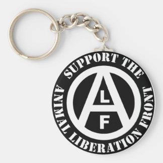 Vegetarian Vegan Support Animal Liberation Front Key Ring