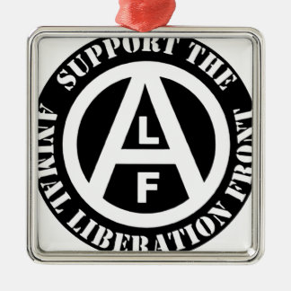 Vegetarian Vegan Support Animal Liberation Front Metal Ornament